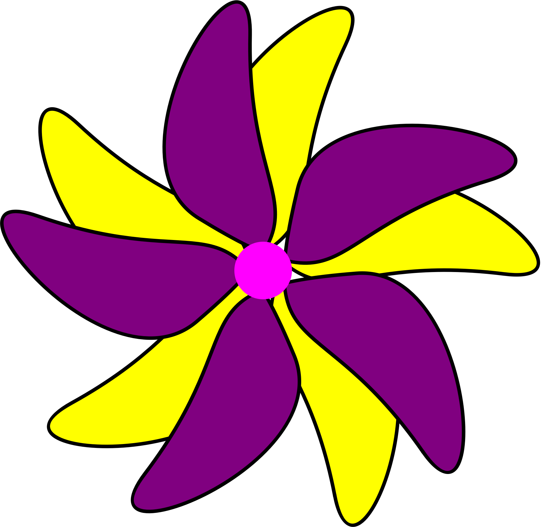 Flower Purple and Yellow